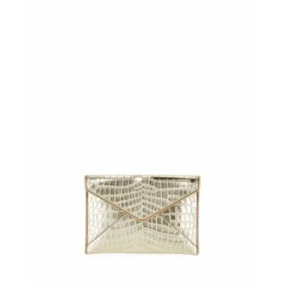 レベッカミンコフ レディース クラッチバッグ バッグ Leo Leather Clutch Bag - Light Gold Hardware GOLD