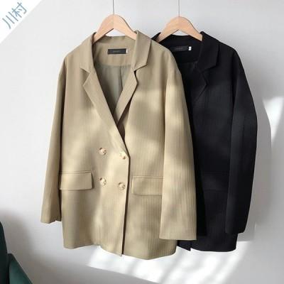 テーラードジャケット 長袖アウター レディース スーツジャケット カジュアル 大きめ 着痩せ 通勤  袖口スリット ゆったり 薄手 秋冬 レディース スーツ