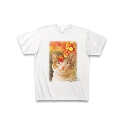 村松誠 ビッグコミックオリジナル2017年10月20日号「猫と秋景色」 Tシャツ(ホワイト)