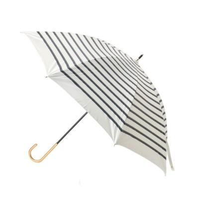 (grove/グローブ)遮光遮熱ロープボーダーパラソル(長傘)/レディース オフホワイト(303)