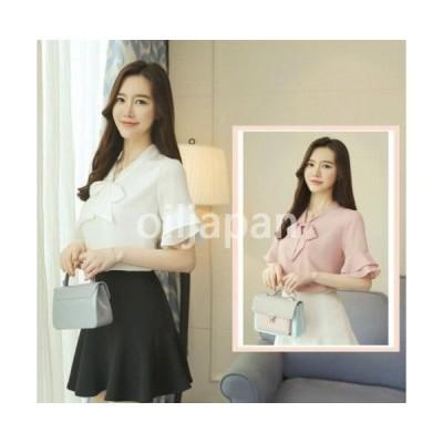 最新作 可愛い韓国風ファッション/レディースブラウス/ 半袖 Tシャツ/ 通勤通学 シャツ