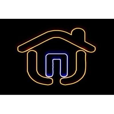 【ネオン】家【3】【いえ】【HOUSE】【ハウス】【イラスト】【建物】【アイコン】【ネオンライト】【電飾】【LED】【ライト】【サイン】