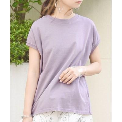 tシャツ Tシャツ ピグメントフレンチスリーブプルオーバーカットソー