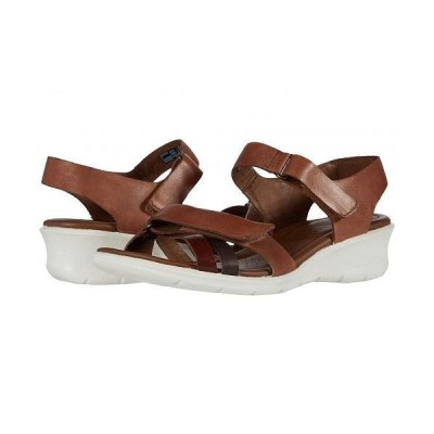 ECCO エコー レディース 女性用 シューズ 靴 ヒール Felicia Ankle Strap Sandal - Brandy/Coffee/Mahogany Calf Leather/Cow Leather/Cow Nubuck