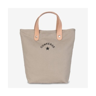 HIKA / 【CONVERSE/コンバース】CANVAS LEATHER TOTE BAG/ヌメ革キャンバストート WOMEN バッグ > トートバッグ