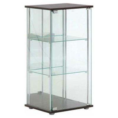 不二貿易 ガラスコレクションケース 3段(背面ミラー付き) TMG-G02 96048 【返品種別A】