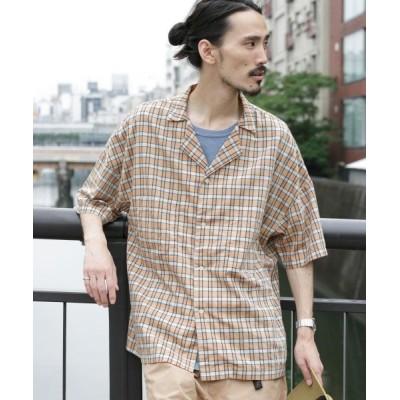 【アーバンリサーチ】 ビッグシルエットオープンカラーシャツ メンズ BEGCHECK FREE URBAN RESEARCH