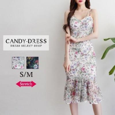 【予約】S/M 送料無料 Luxury Dress 総レース×フラワープリントノースリーブマーメイドミディドレス RB200605 韓国ドレス 韓国ドレス キ