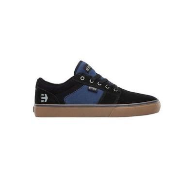 スニーカー エトニーズ Etnies Men's Barge LS Low Top Shoes Black Navy Skate Skateboard Sneakers