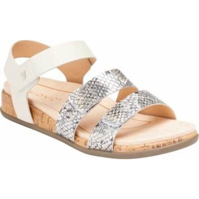 バイオニック レディース サンダル シューズ Colleen Strappy Sandal Cream Boa Metallic Leather