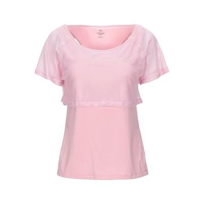 CALVIN KLEIN PERFORMANCE T シャツ ピンク S ポリエステル 82% / ポリウレタン 18% T シャツ