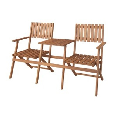 テーブル付きフォールディングベンチ ガーデニング ガーデニングファニチャー ガーデン用チェア・ベンチ NX-931 折りたたみ チェア 二人