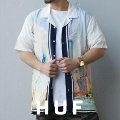 新品 ハフ HUF PRESTIGE S/S RESORT SHIRT レーヨンシャツ 半袖シャツ WHITE ホワイト 白 TOPS