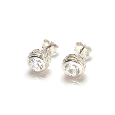 シルバー925 メンズ ピアス 両耳 アクセサリー シンプル かっこいい おもしろ キュービックジルコニア シルバーピアス EU-0249w07x 1610