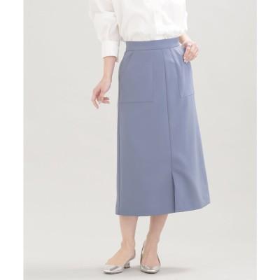 WEB限定/スリットタイトスカート L.ブルー1