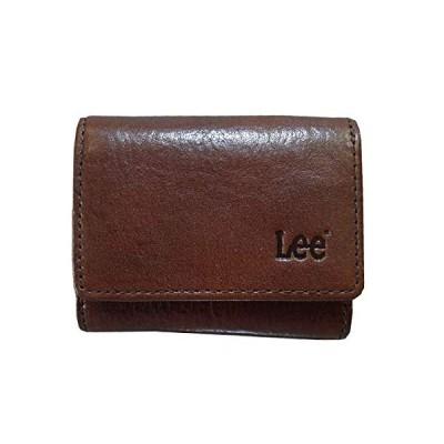 新品Lee(リー)ベジタブルレザー 三つ折財布(ボックス) 520267チョコ