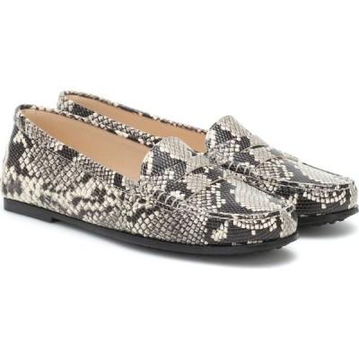 トッズ Tod's レディース ローファー・オックスフォード シューズ・靴 City Gommino Leather Loafers White Mix