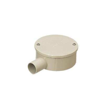 未来工業:露出用丸形ボックス(カブセ蓋)1方出〜4方出(防水タイプ) 型式:PVM22-1KPJ