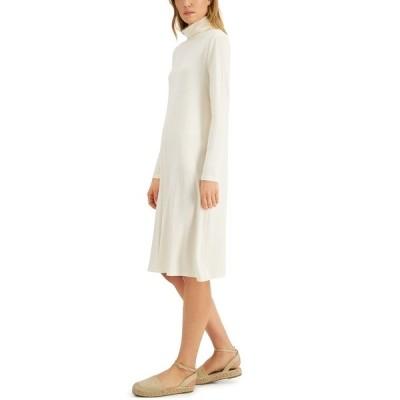 スタイルアンドコー ワンピース トップス レディース Turtleneck Midi Dress, Created for Macy's Vanilla Bean