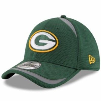 New Era ニュー エラ スポーツ用品  New Era Green Bay Packers Green Team Reflectaline 39THIRTY Flex Hat
