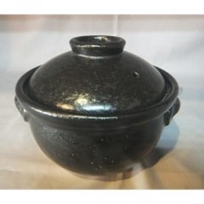 かまど飯土鍋(黒釉1.5合炊き)
