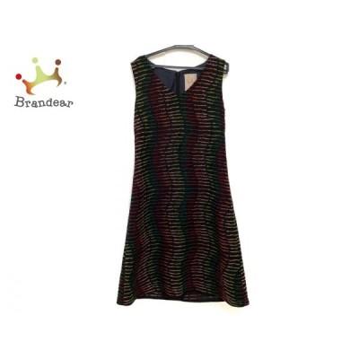 シビラ Sybilla ワンピース サイズM M レディース 黒×ピンク×グリーン 刺繍   スペシャル特価 20200726
