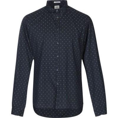 オフィチーナ トレンタ セイ OFFICINA 36 メンズ シャツ トップス patterned shirt Dark blue