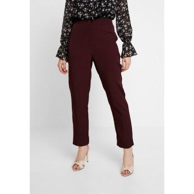 ミスガイデッド カジュアルパンツ レディース ボトムス HIGH WAISTED CIGARETTE TROUSERS - Trousers - burgundy