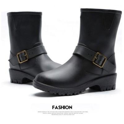 レインブーツレインシューズレディース雨靴リボンローヒール雨具防水雪対策あったか梅雨雨の日ショートブーツオシャレ