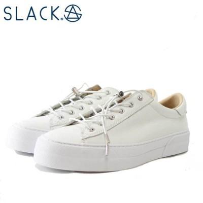 スラック  SLACK SL 1911 102(ユニセックス)ELCLUDE(エルクルード)  カラー:ホワイト 天然皮革 ローカットスニーカー バルカナイズ製法