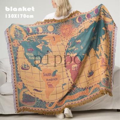 世界地図 面白い blanket ブランケット タペストリー 掛け布団 保暖 冷房対策