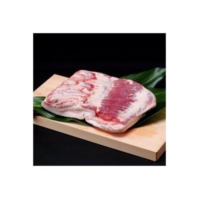 新冠町 ふるさと納税 北海道産豚肉(皮付きバラ肉)【1.5kg前後】