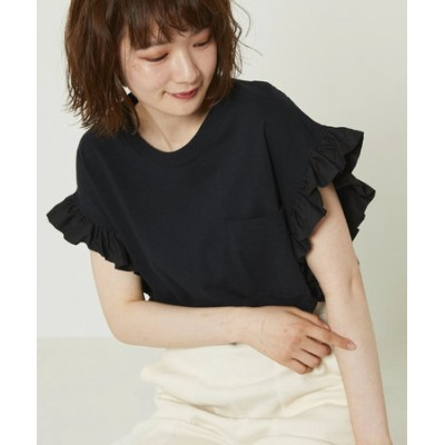 FRILL SLEEVE TSHIRT/フリルスリーブTシャツ