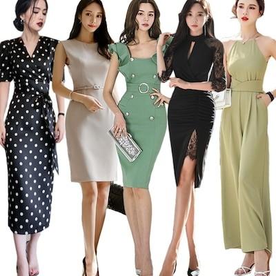 高品質ワンピースドレス韓国ファッションOL正式な場合礼装ドレスセクシーなワンピース一字肩二点セットO