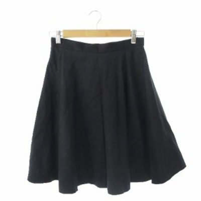 【中古】ドゥーズィエムクラス DEUXIEME CLASSE スカート フレア ひざ丈 38 黒 ブラック /MN21 ☆ レディース