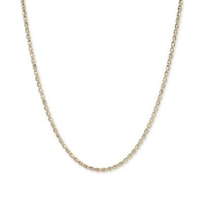 """イタリアン ゴールド Italian Gold レディース ネックレス ジュエリー・アクセサリー Textured Barrel Link 18"""" Chain Necklace in 14k Gold Yellow Gold"""