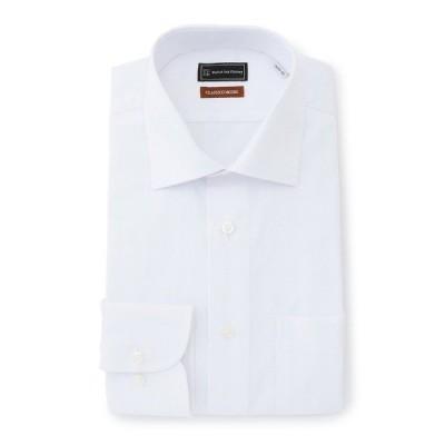 シャツ ブラウス 【形態安定】長袖ワイシャツ 【クラシコ】 セミワイド ジャガード