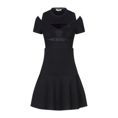 ヴァレンティノ VALENTINO ミニワンピース&ドレス ブラック S レーヨン 64% / ナイロン 22% / ポリエステル 12% / ポリ