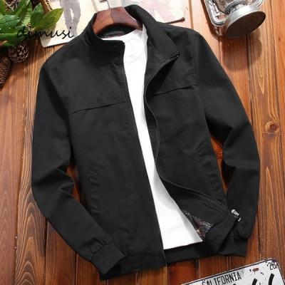 ジャケット メンズ 20代 無地 ブルゾン 春物 大きいサイズ 秋物 30代 スプリングジャンパー 40代 ミリタリージャケット コットン フライトジャケット