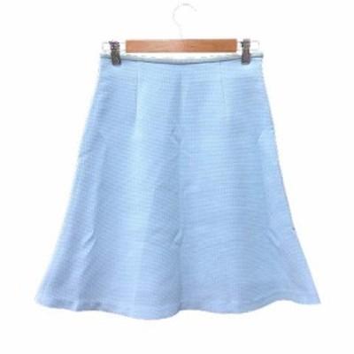 【中古】アナディス dun a dix フレアスカート ひざ丈 36 青 ブルー 水色 /YK レディース