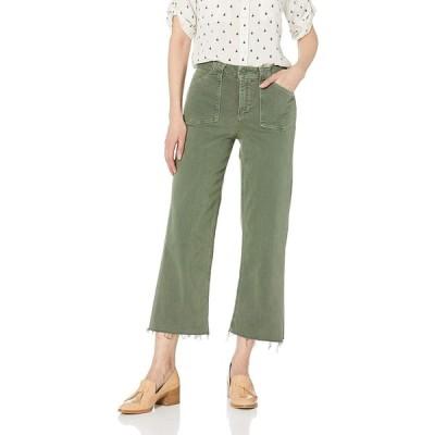 PAIGE レディース Nellie Culotte ハイライズ リラックスフィット ワイドレッグジーンズ US サイズ: 32 カラー: グリーン