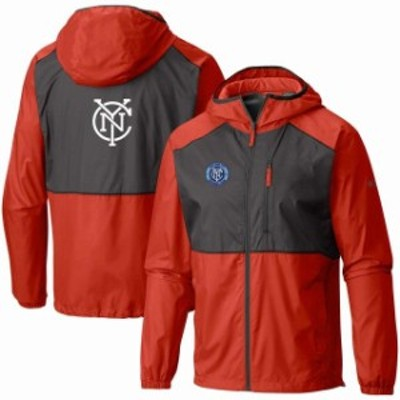 Columbia コロンビア スポーツ用品  Columbia New York City FC Orange Team Logo Flash Forward Full-Zip Windbreaker Jacket