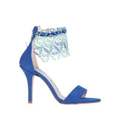 SOANI サンダル ブルー 38 紡績繊維 サンダル