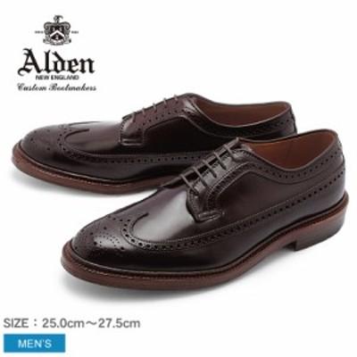 革靴 メンズ オールデン ウィングチップ シューズ ロング ウィング ブルチャー LONG WING BLUCHER D5511 靴 シューズ ALDEN