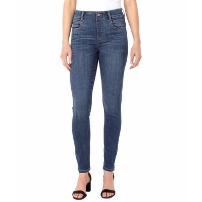リバプール デニムパンツ ボトムス レディース Gia Glider Pull-On Skinny Jeans in Basel Basel