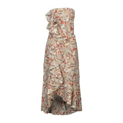 アレクシス ALEXIS 7分丈ワンピース・ドレス ベージュ L ラミー 100% 7分丈ワンピース・ドレス