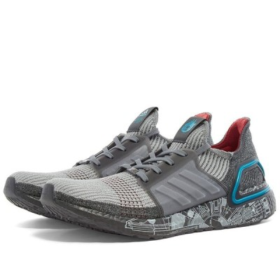 アディダス Adidas メンズ スニーカー シューズ・靴 x Star Wars Ultraboost 19 Grey/Bright Cyan