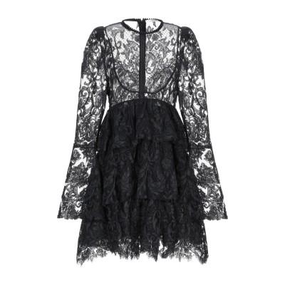 LUCILLE ミニワンピース&ドレス ブラック 40 シルク 100% / ポリエステル / コットン / ナイロン ミニワンピース&ドレス