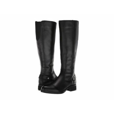 スティーブ マデン ブーツ&レインブーツ シューズ レディース Jax Riding Boot - Wide Shaft Black Leather
