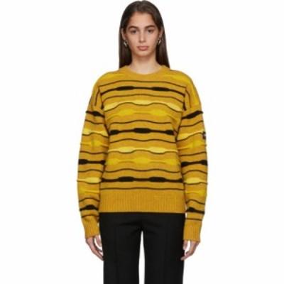 マーティン ローズ NAPA by Martine Rose レディース ニット・セーター トップス Yellow Striped Knit Crewneck Sweater